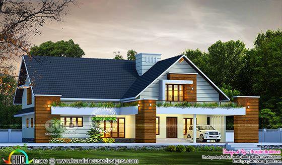 Kerala Bungalow house rendering
