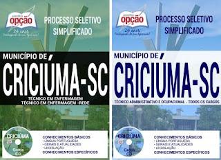 Apostila da Prefeitura de Criciúma (PDF) Técnico em Enfermagem