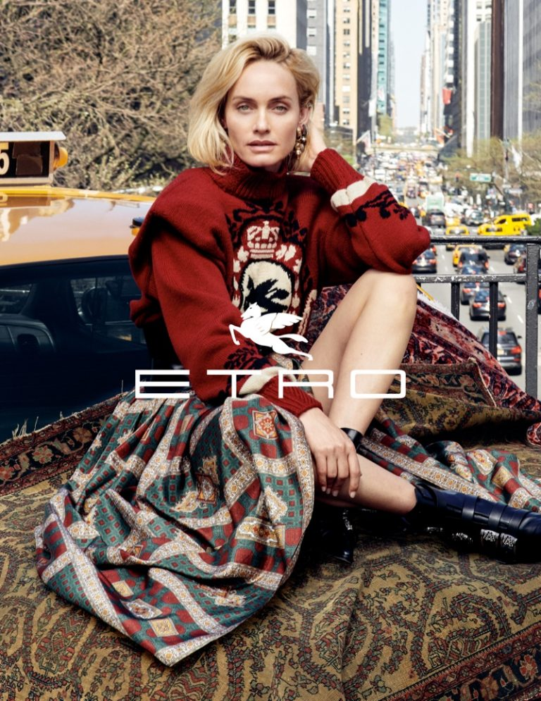 Amber Valletta stars in Etro fall-winter 2019 campaign
