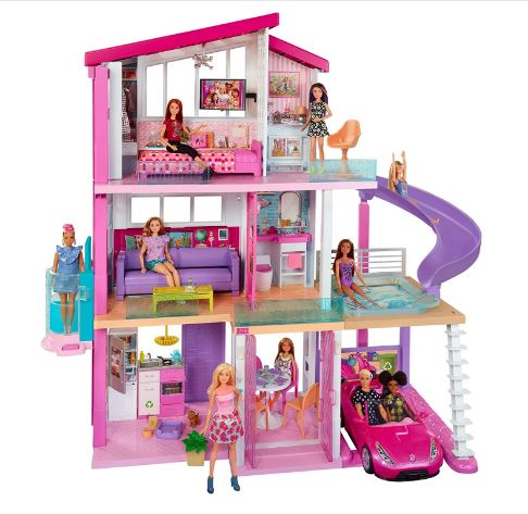 Barbie Dream House Doll house with Pool, Slide & Elevator