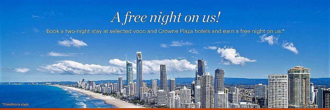 【兩晚送一晚】現在預訂入住IHG洲際澳新地區參與活動酒店連續兩晚送一晚(12/15前有效)