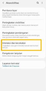 Samsung M11 screenshot dengan asisten menu