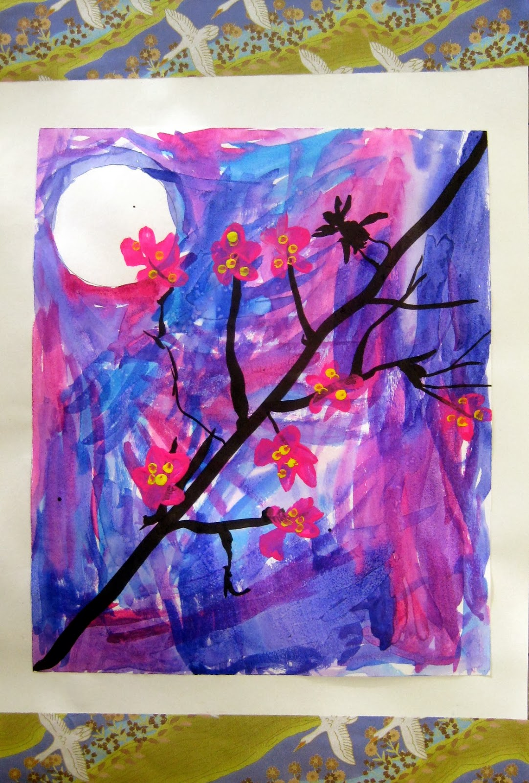 Cassie Stephens In The Art Room Cherry Blossom Trees By Second Grade