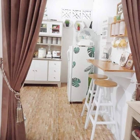 Desain dekorasi rumah mungil type 45 bertema krem coklat