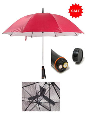 umbrella with Built-in Fan: provide good air and Protects from Sun