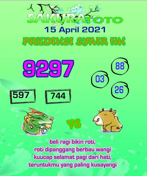 Prediksi Togel Sakuratoto Hongkong Kamis 15 April 2021