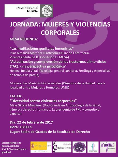 """Jornada: """"mujeres y violencias corporales""""."""