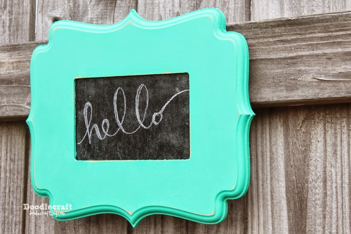 Doodlecraft: Curly Wood Frame Chalkboard!