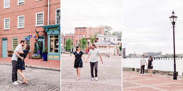 Spring Sunrise Engagement Session in Fells Point Baltimore photographed by Maryland Wedding Photographer Heather Ryan Photography