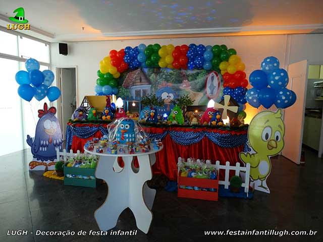 Mesa temática Galinha Pintadinha luxo - Decoração de aniversário