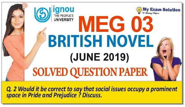 meg 03, british novel, ignou british novel,