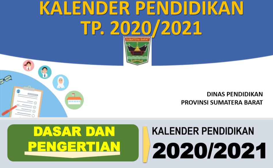 Download Kalender Pendidikan Provinsi Sumatera Barat Tahun Pelajaran 2020 2021 Mariyadi Com