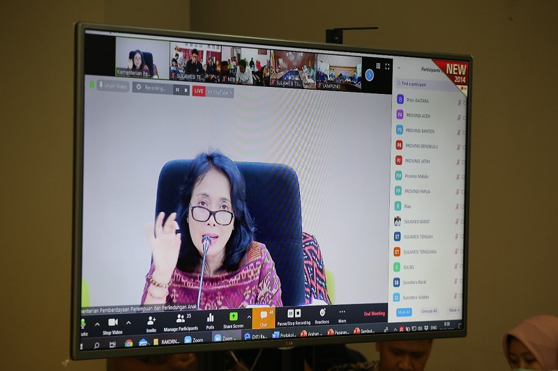 Virus Corona, Kemen PPPA Lakukan Rapat Koordinasi Nasional Melalui Video Conference