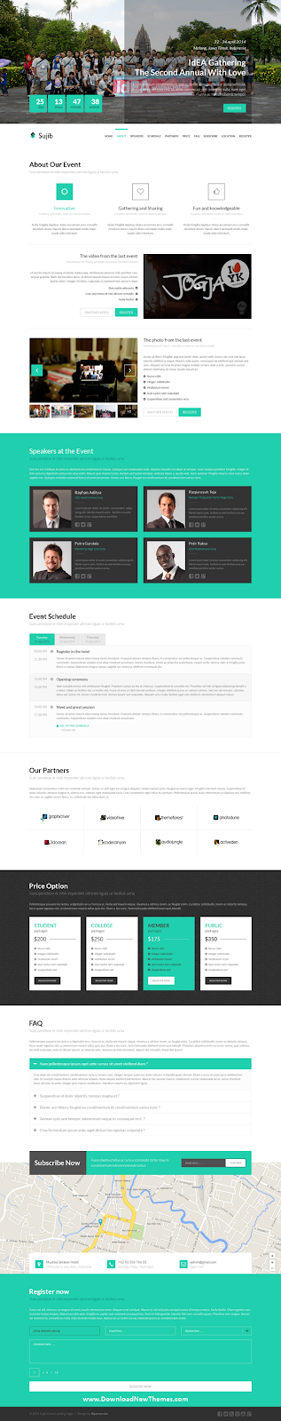 Event Landing Page HTML Template