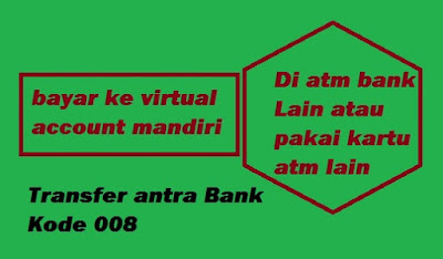metode transfer ke Virtual Account Bank Mandiri Dari ATM Bank Lain