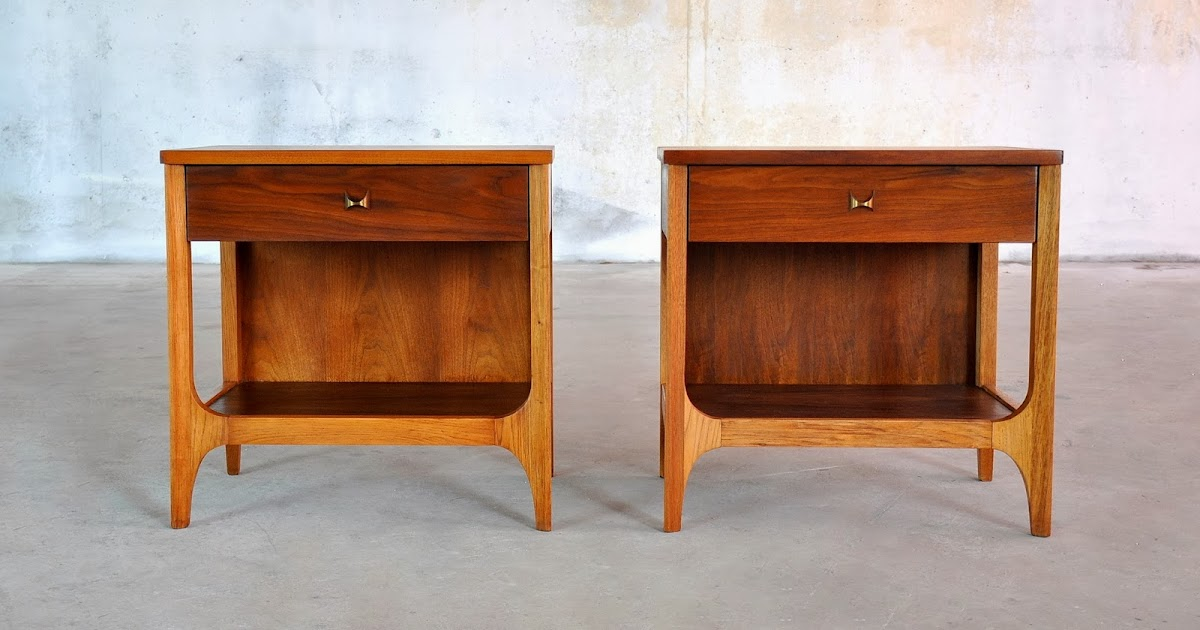 Select Modern Pair Of Brasilia Nightstands Bedside Side Or End Tables
