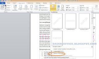cara menghilangkan watermark di word 2010