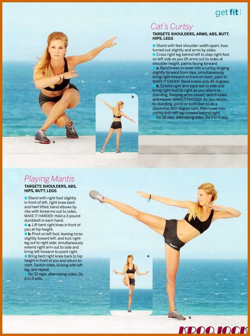 Heather Morris look Sexy in Fitness Magazine Cover