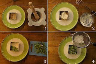 Foto preparazione ricetta cheesecake al kiwi per bambini