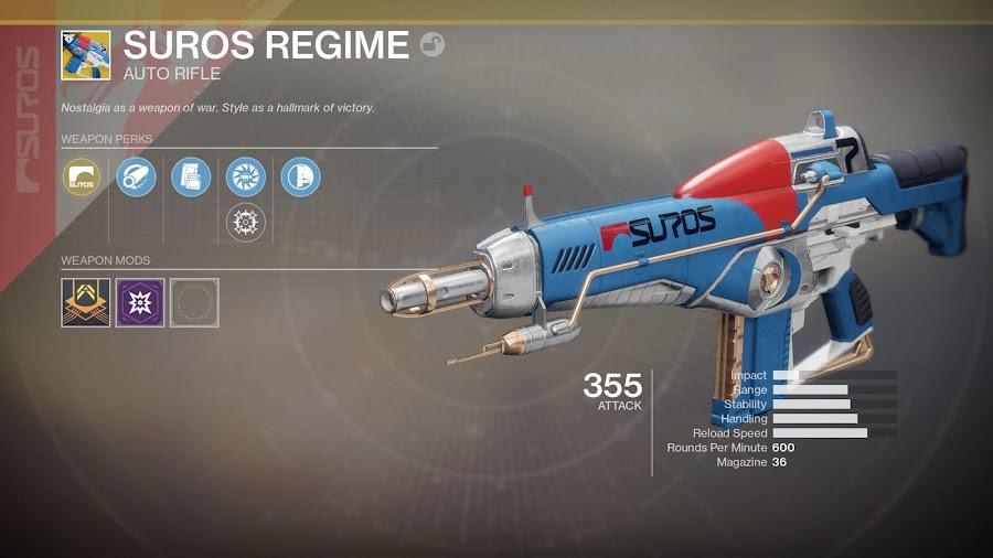 bungie destiny 2 dlc 2 warmind exotic rifle suros regime