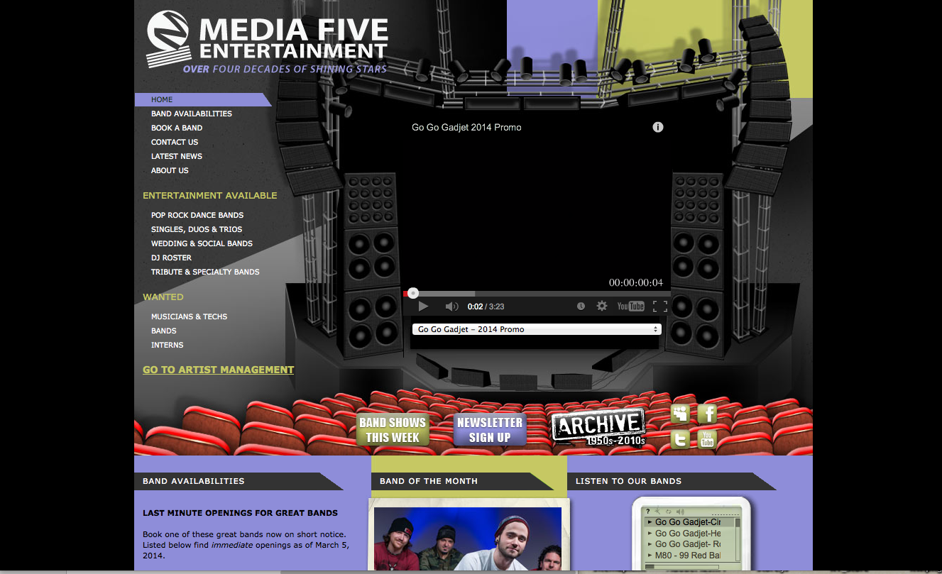 Intern at Media Five Entertainment