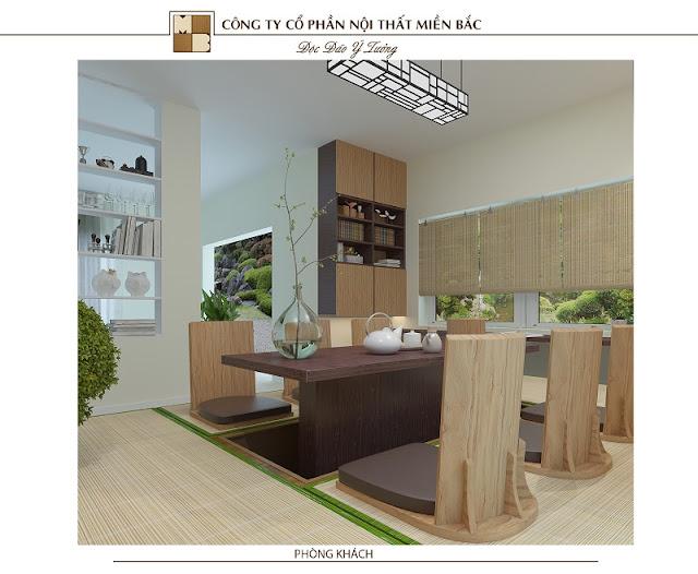 Thiết kế nội thất nhà kiểu Nhật đơn giản mà sang trọng
