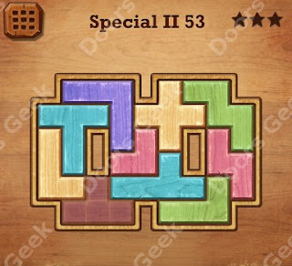 Cheats, Solutions, Walkthrough for Wood Block Puzzle Special II Level 53