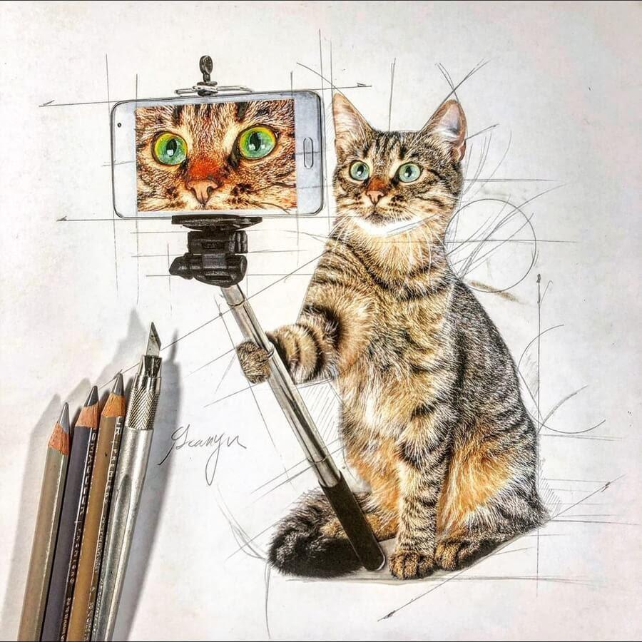 02-Cat-selfie-Guanyu-www-designstack-co