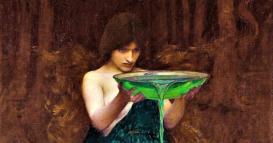 "Circe em 'Cálice envenenado"" de John William Waterhouse, 1892."