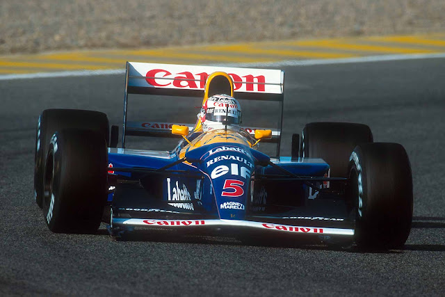 Williams-Renault FW14B 1990s F1 car