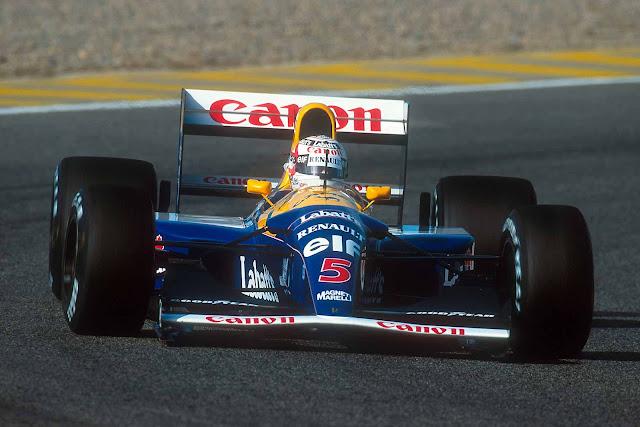 Williams-Renault FW14B 1990s F1 car