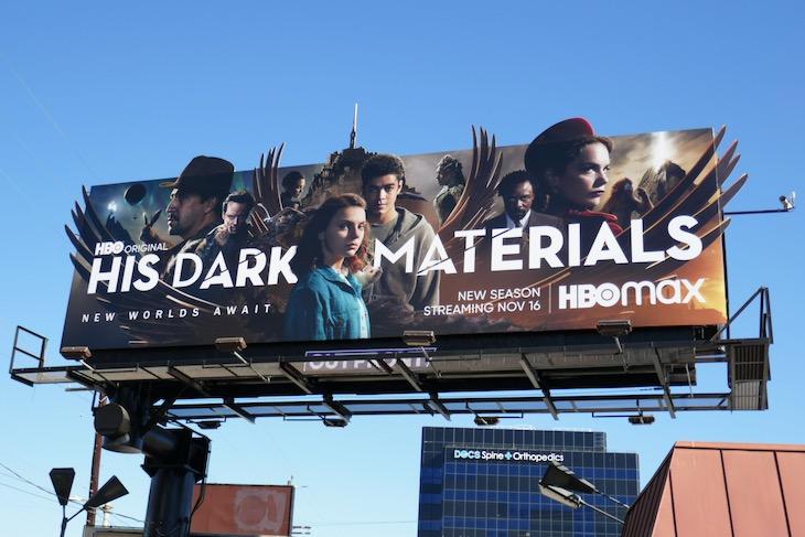 His Dark Materials season 2 extension billboard