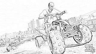 Grand Theft Auto coloring pages coloring.filminspector.com