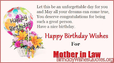 Mother In Law Birthday Wishes