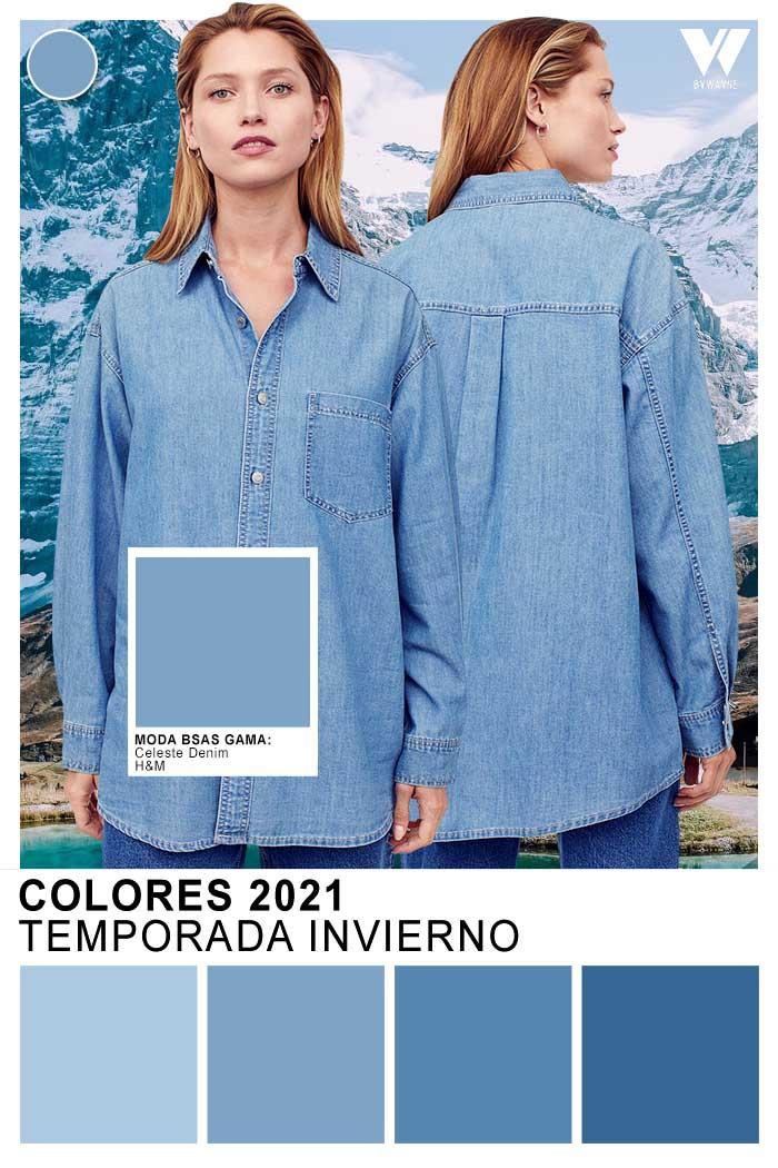 Colores otoñoi invierno 2021 Celeste denim Celeste Jean