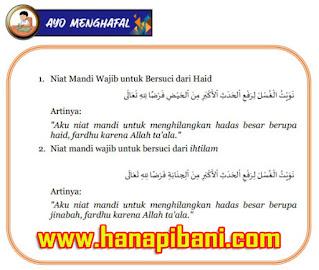 "Materi Pembelajaran Fikih - ""Bersuci dari haid dan Ihtilam"""