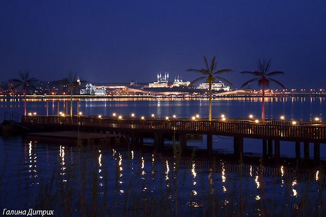 Вид на Казанский кремль ночью