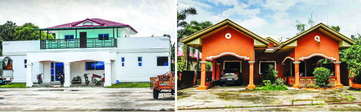 Alleged houses of Senator De Lima driver's in Pangasinan
