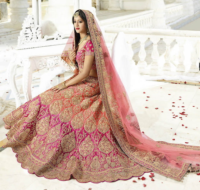 What are the Trending Colors in Bridal Lehengas?