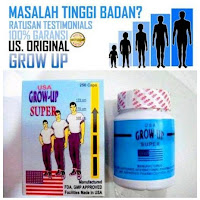 [ORIGINAL] Grow UP USA Obat Herbal Peninggi Badan Super Cepat