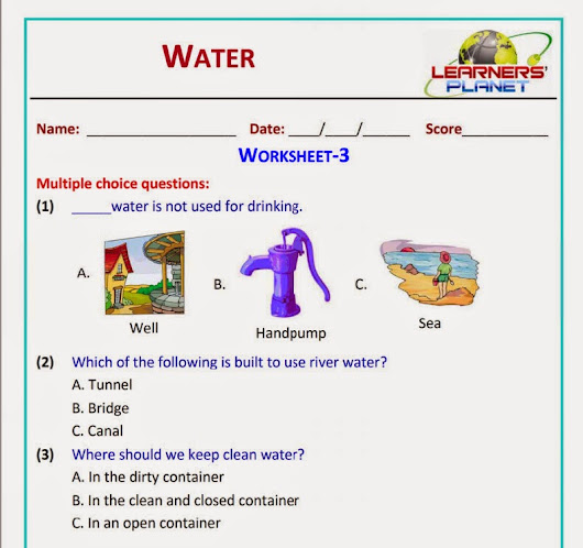 Cbse class water worksheets test papers videos printable download also printables of geotwitter kids activities rh