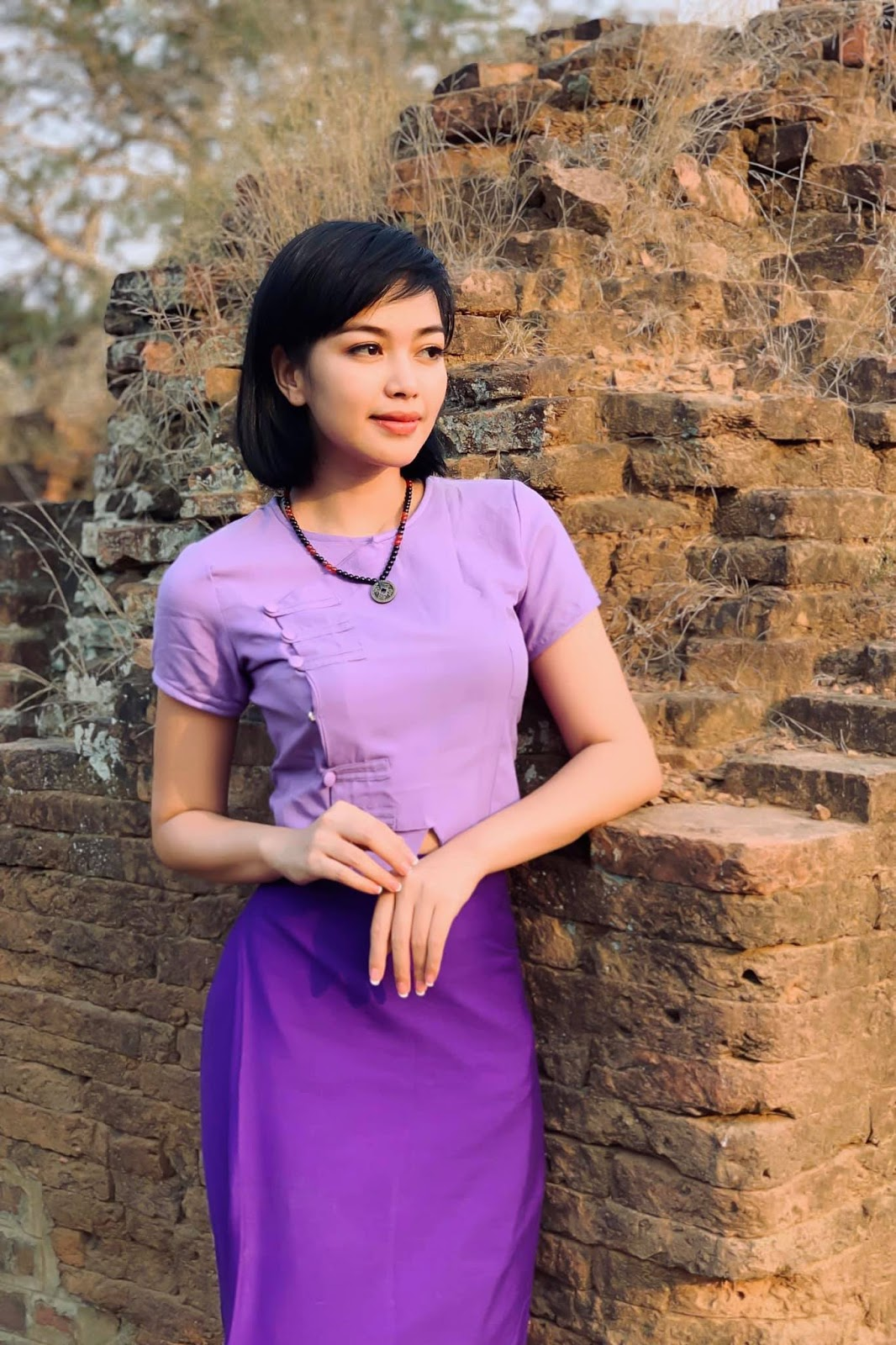 Nwe Nwe Htun - Beautiful Myanmar Outfit Photos