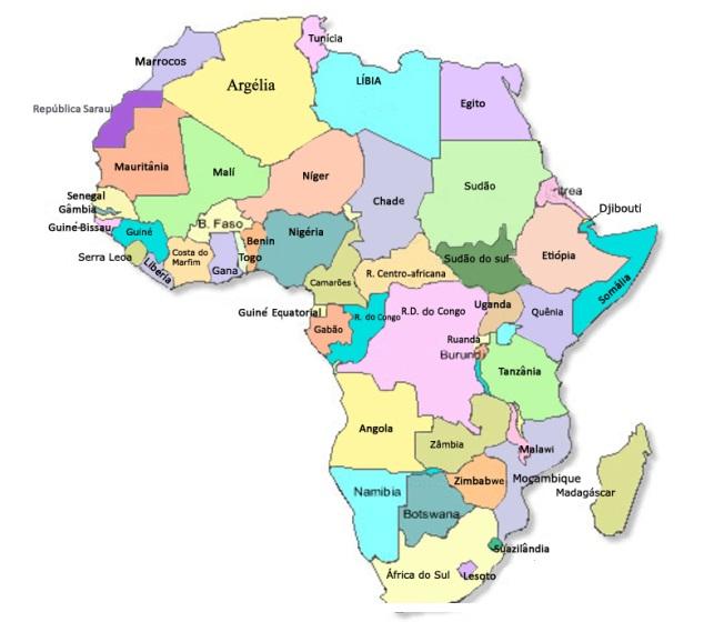 mapa politico da africa Geo   Conceição : MAPA POLÍTICO DA ÁFRICA ATUALIZADO mapa politico da africa