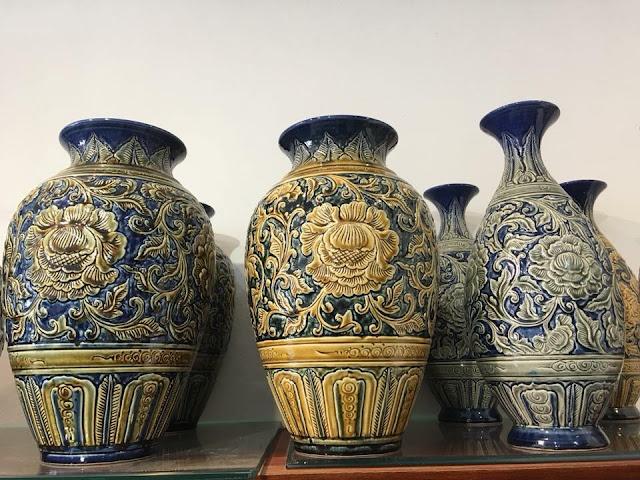 lọ hoa gốm sứ bát tràng - đồ trang trí phong thủy gốm sứ cao cấp