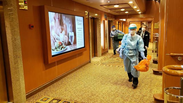 Japón confirma cerca de 10 casos de coronavirus en el crucero aislado en el puerto de Yokohama