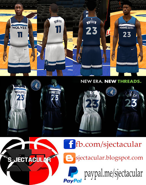 ... S-JECTACULAR NBA 2K14 Association and Icon Jerseys Minnesota  Timberwolves unveil new ... 66fdc1dc9