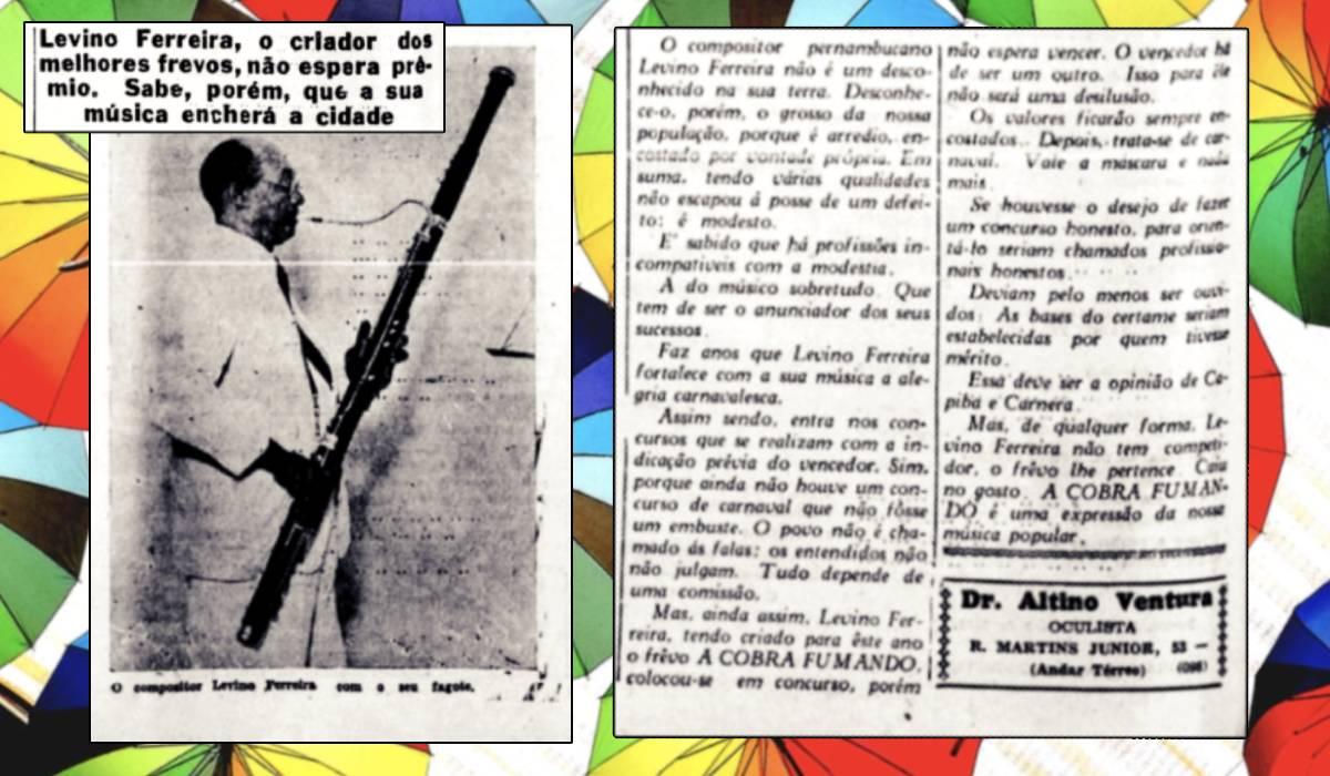 ambiente de leitura carlos romero cronica pesquisa flavio ramalho brito frevo origem levino ferreira pernambuco capoeira guerra peixe mestre vivo