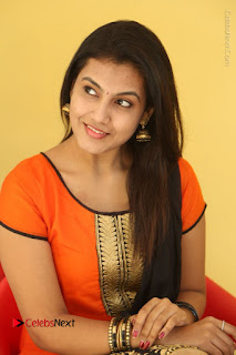 Telugu Actress Chandana Stills in Salwar Kameez at Karam Dosa Movie Press Meet  0087.JPG