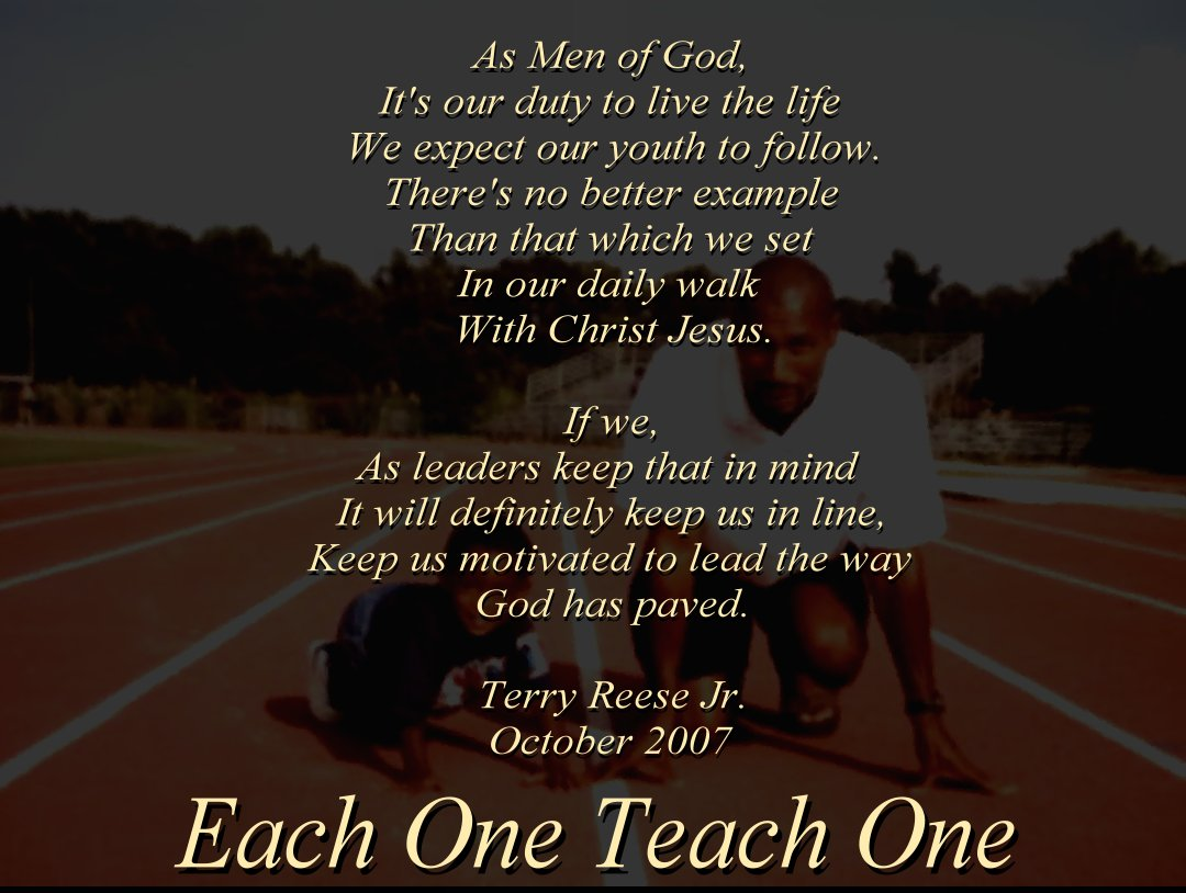 off track each one teach one each one teach one