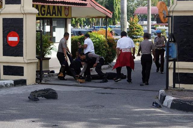 Inilah Kronologi Penyerangan Mapolda Riau, 4 Pelaku Turun dengan Pedang